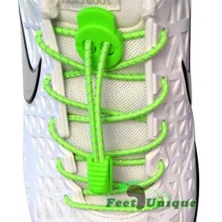 Reflektierende neon-grüne Schnürsenkel mit Verschluss