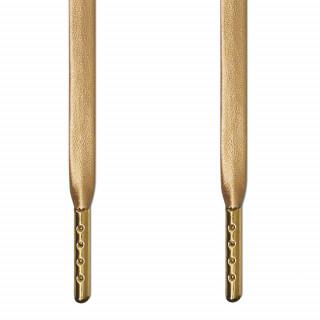 Flache, goldene Lederschnürsenkel