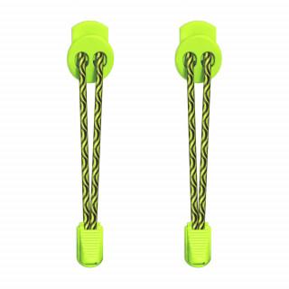 Elastische Schnürsenkel in Schwarz & Neon-gelb mit Schnellverschluss