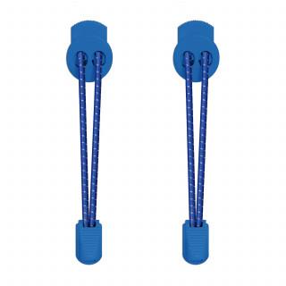 Reflektierende blaue Schnürsenkel mit Schnellverschluss