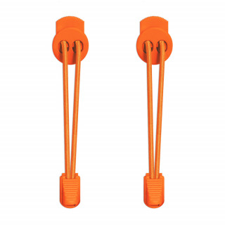 Elastische, orangene Schnürsenkel mit Schnellverschluss