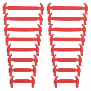 Rote elastische Silikon-Schnürsenkel