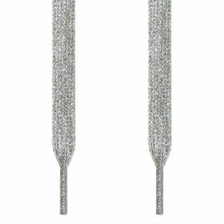 Metallen-silberne Schnürsenkel