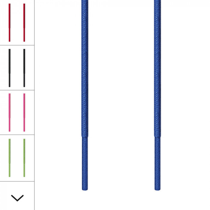 Edle, runde, blaue Schnürsenkel