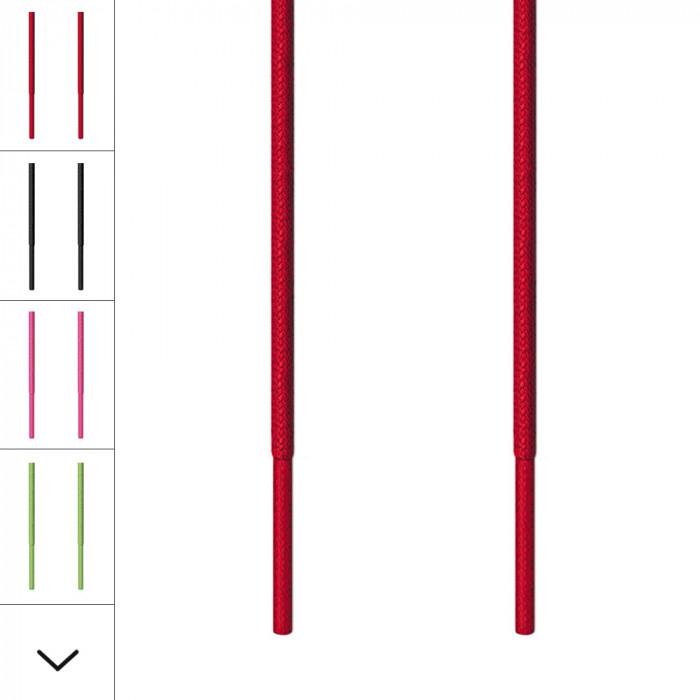 Runde, rote Schnürsenkel für Ausgehschuhe