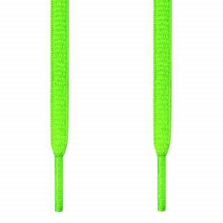 Ovale, neon-grüne Schnürsenkel