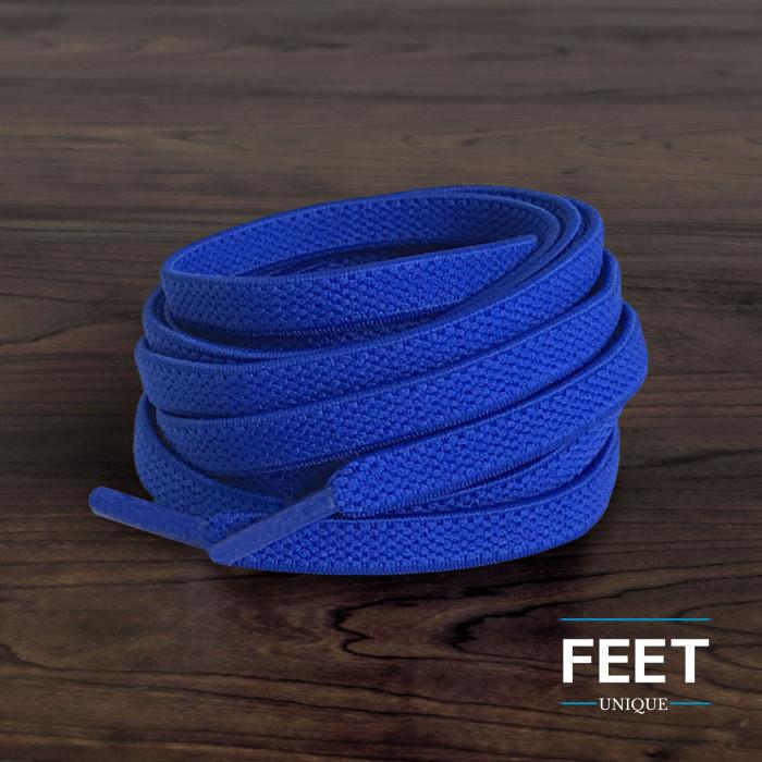 Elastische, flache, blaue Schnürsenkel (No-Tie)