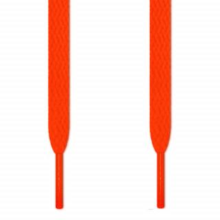 Flache, neon-orangene Schnürsenkel