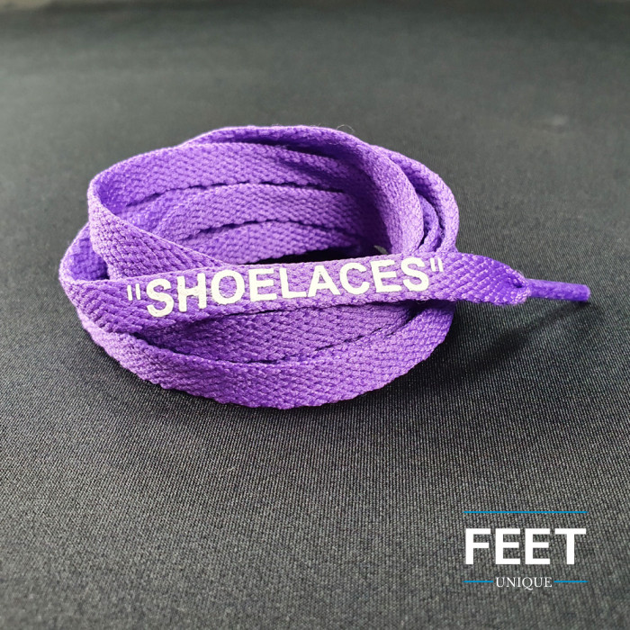 Purple OFF-WHITE Schnürsenkel
