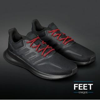 Adidas Yeezy - Schnürsenkel, schwarz und rot
